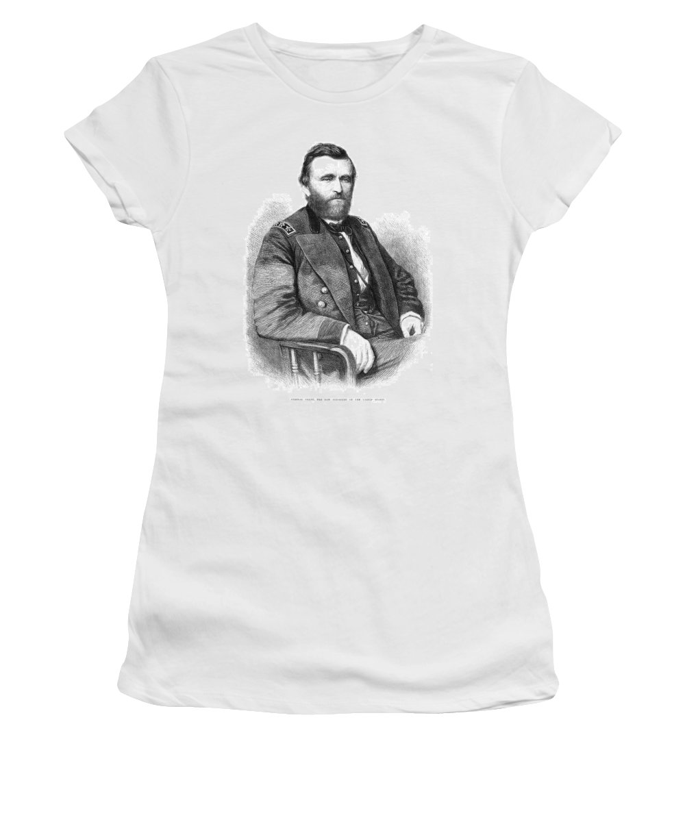1869 Women's T-Shirt (Athletic Fit) featuring the painting Ulysses S by Granger