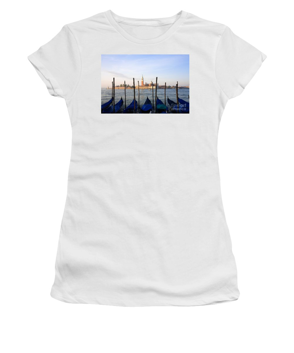 Gondola Women's T-Shirt (Athletic Fit) featuring the photograph Venice by David Davis