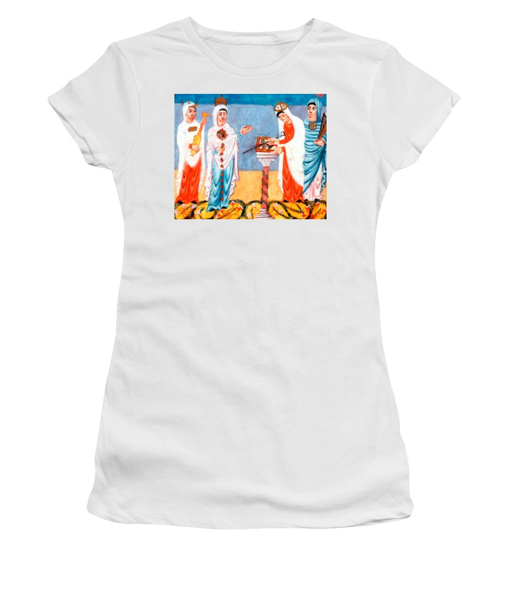 Antique Women's T-Shirt featuring the painting 9th Century Artwork by Munir Alawi