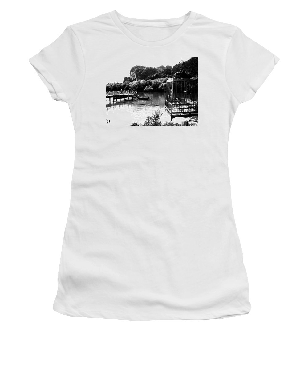 Cage Women's T-Shirt featuring the photograph A Caged Bird's Vista by Kaleidoscopik Photography