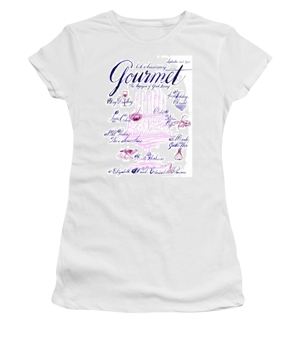 Illustration Women's T-Shirt featuring the photograph A Calligraphy Illustration Celebrating Sixty by Elvis Swift
