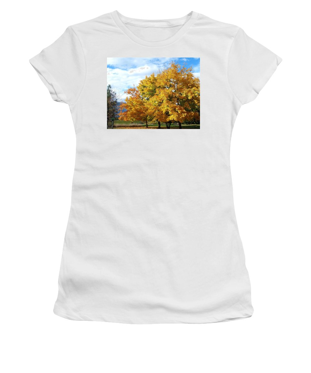 A Chromatic Fall Day Women's T-Shirt (Athletic Fit) featuring the photograph A Chromatic Fall Day by Will Borden