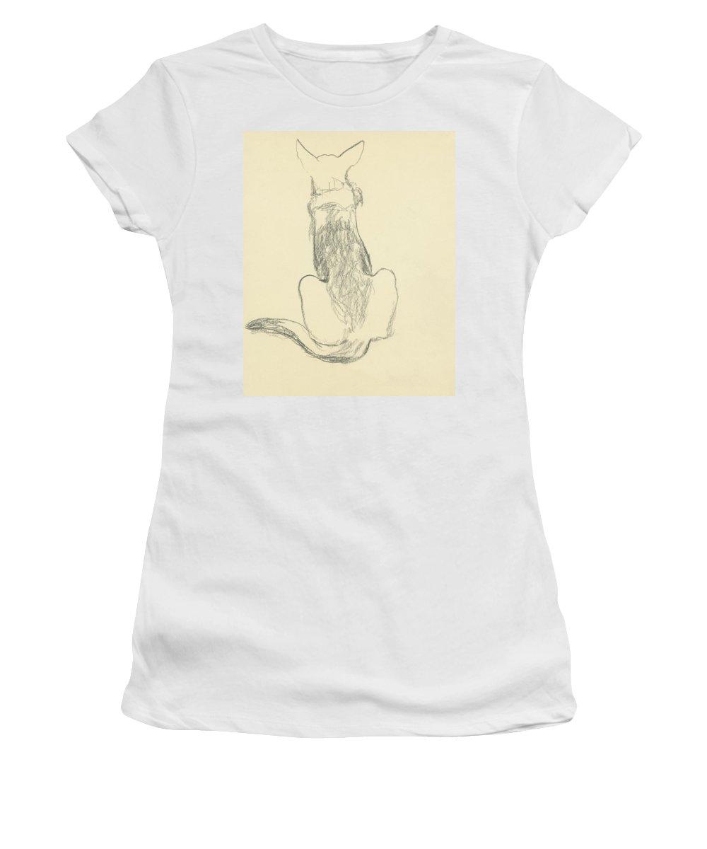 Animal Women's T-Shirt featuring the digital art A German Shepherd by Carl Oscar August Erickson