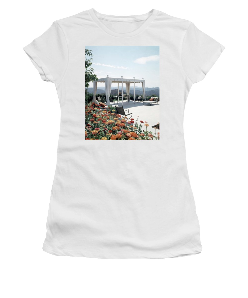 Nobody Women's T-Shirt featuring the photograph A Pavilion In The Backyard Of Bruce Macintosh's by George De Gennaro