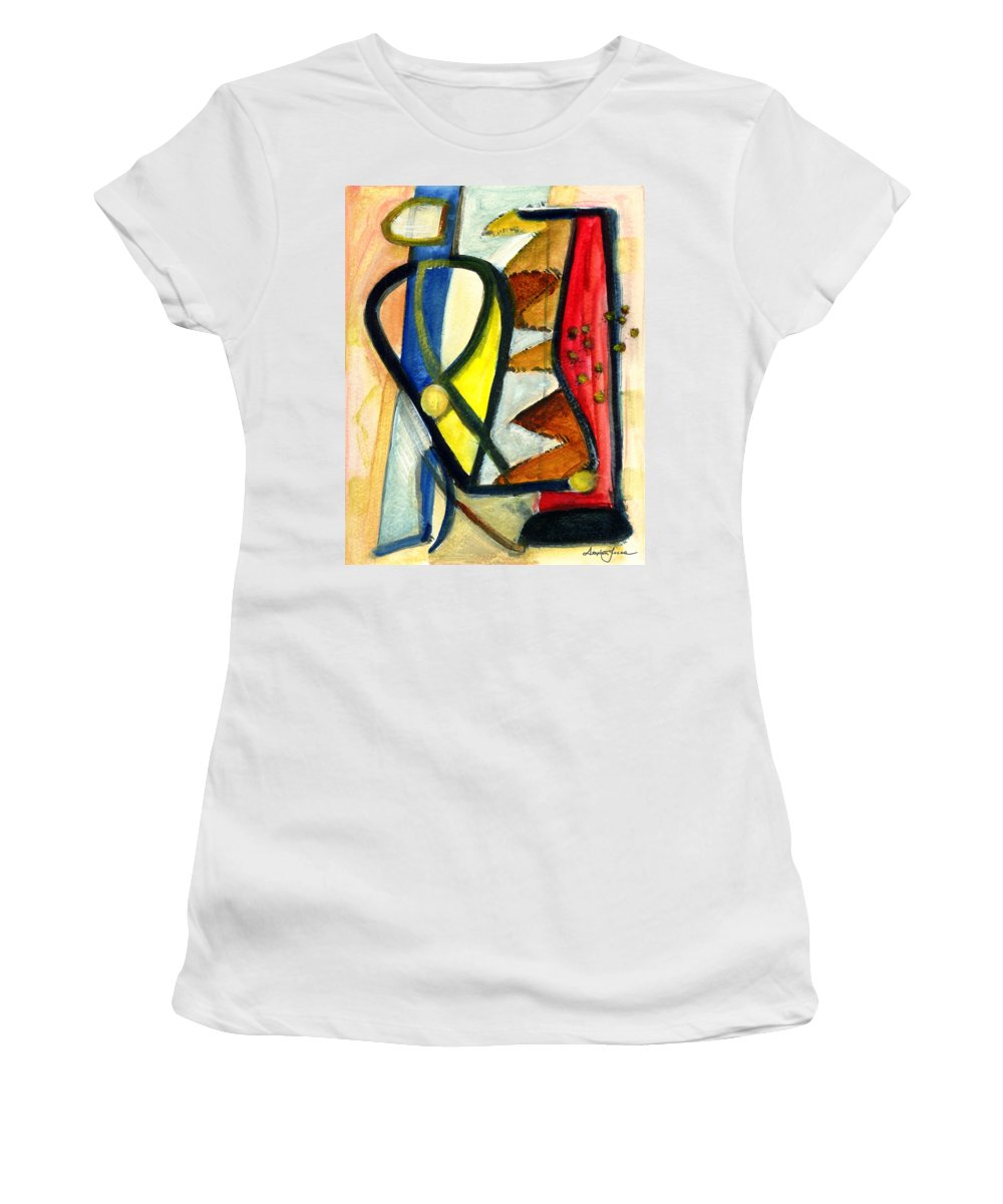 Abstract Art Women's T-Shirt (Athletic Fit) featuring the painting A Perfect Image by Stephen Lucas
