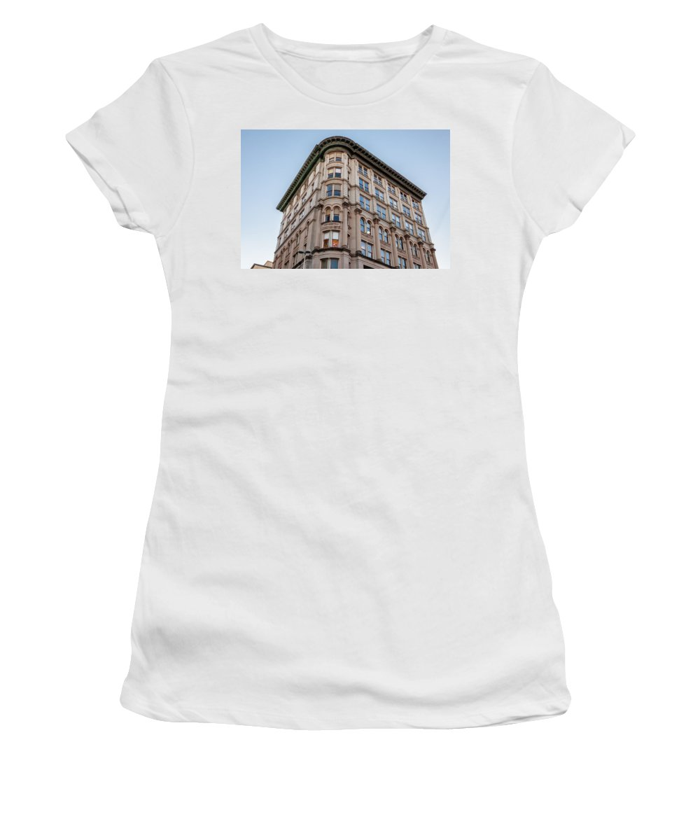 Architecture Women's T-Shirt (Athletic Fit) featuring the photograph A Round The Corner by Melinda Ledsome