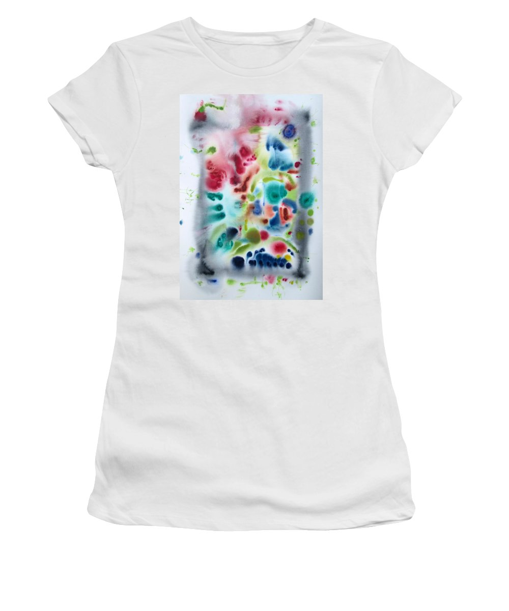 Abstract Women's T-Shirt featuring the painting Untitled 4 by Fabrizio Cassetta
