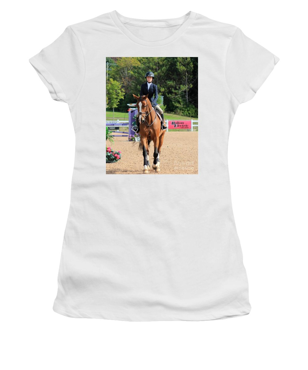 Horse Women's T-Shirt (Athletic Fit) featuring the photograph Ac-medal20 by Janice Byer