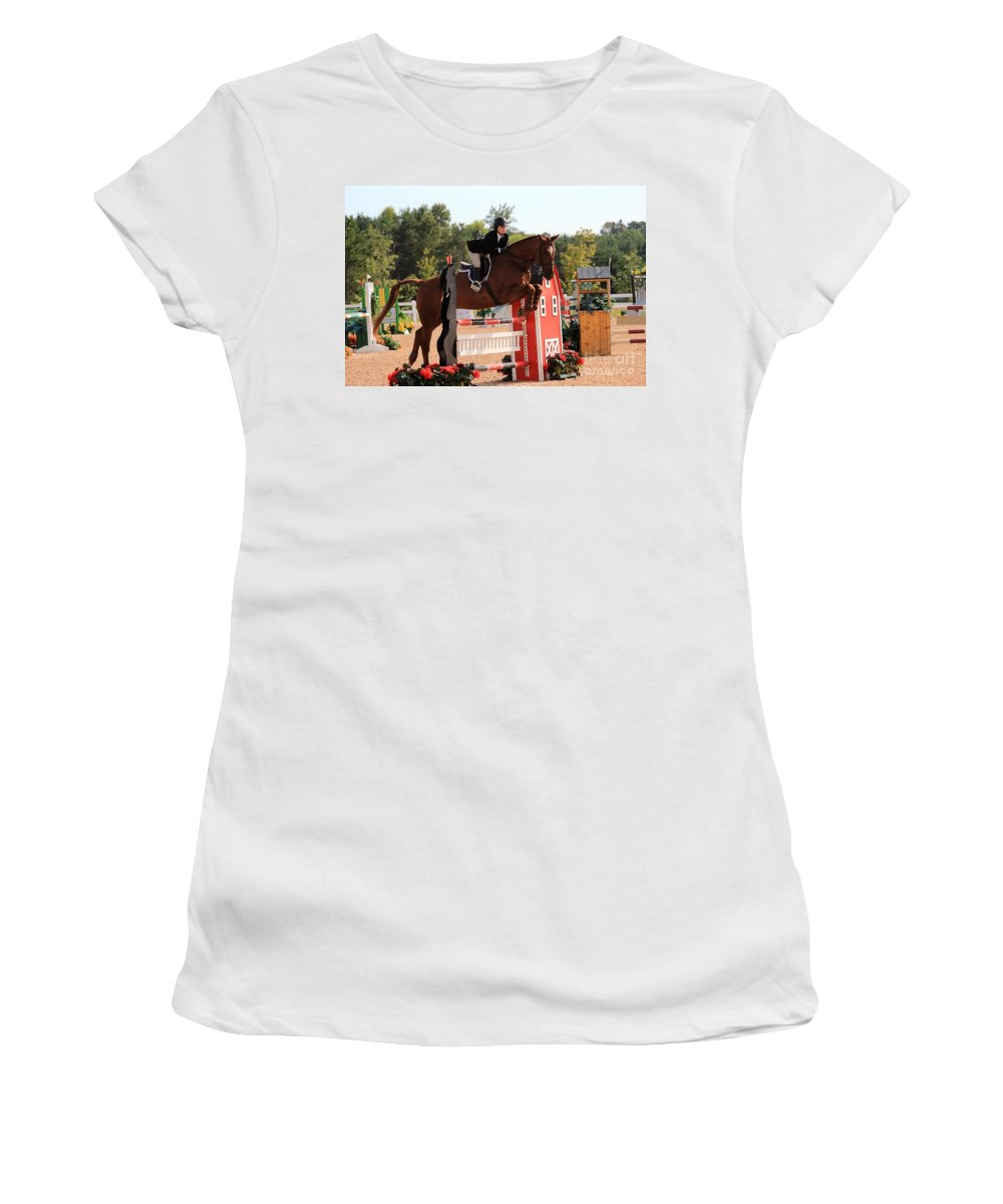 Horse Women's T-Shirt (Athletic Fit) featuring the photograph Ac-medal23 by Janice Byer
