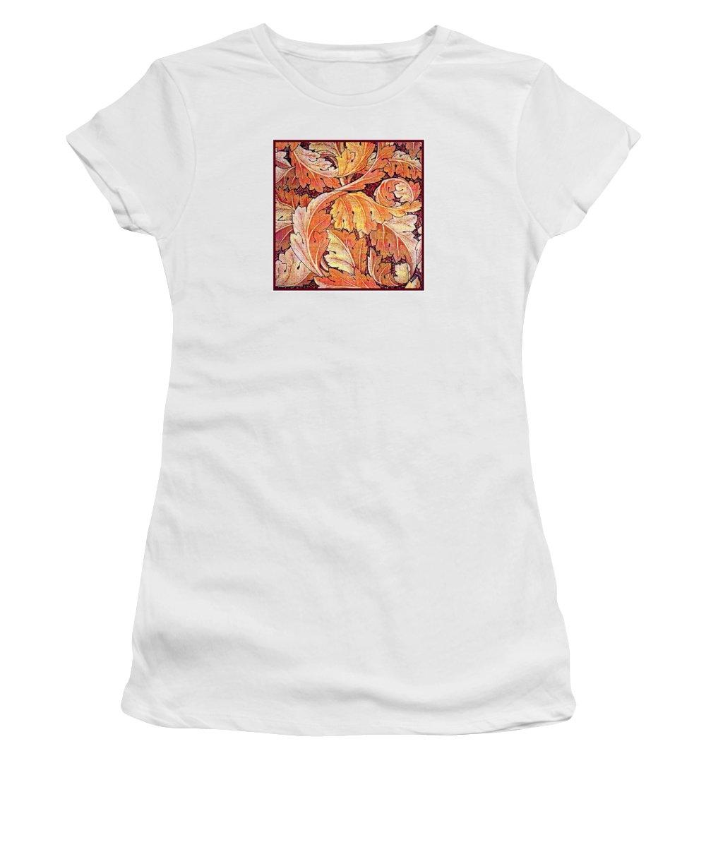 William Women's T-Shirt featuring the mixed media Acanthus Vine Design by William Morris