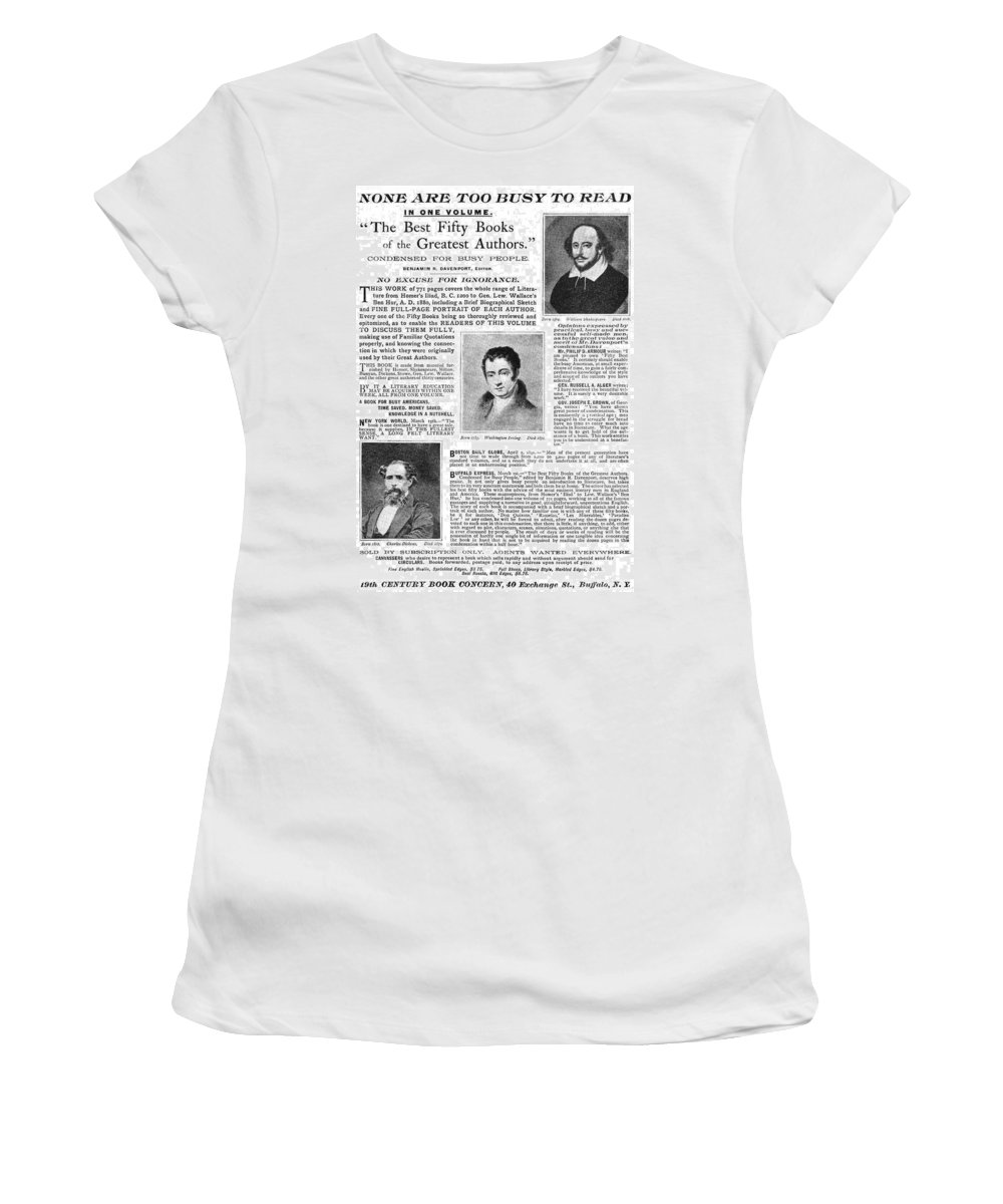 19th Century Women's T-Shirt featuring the painting Ad Abridged Literature by Granger