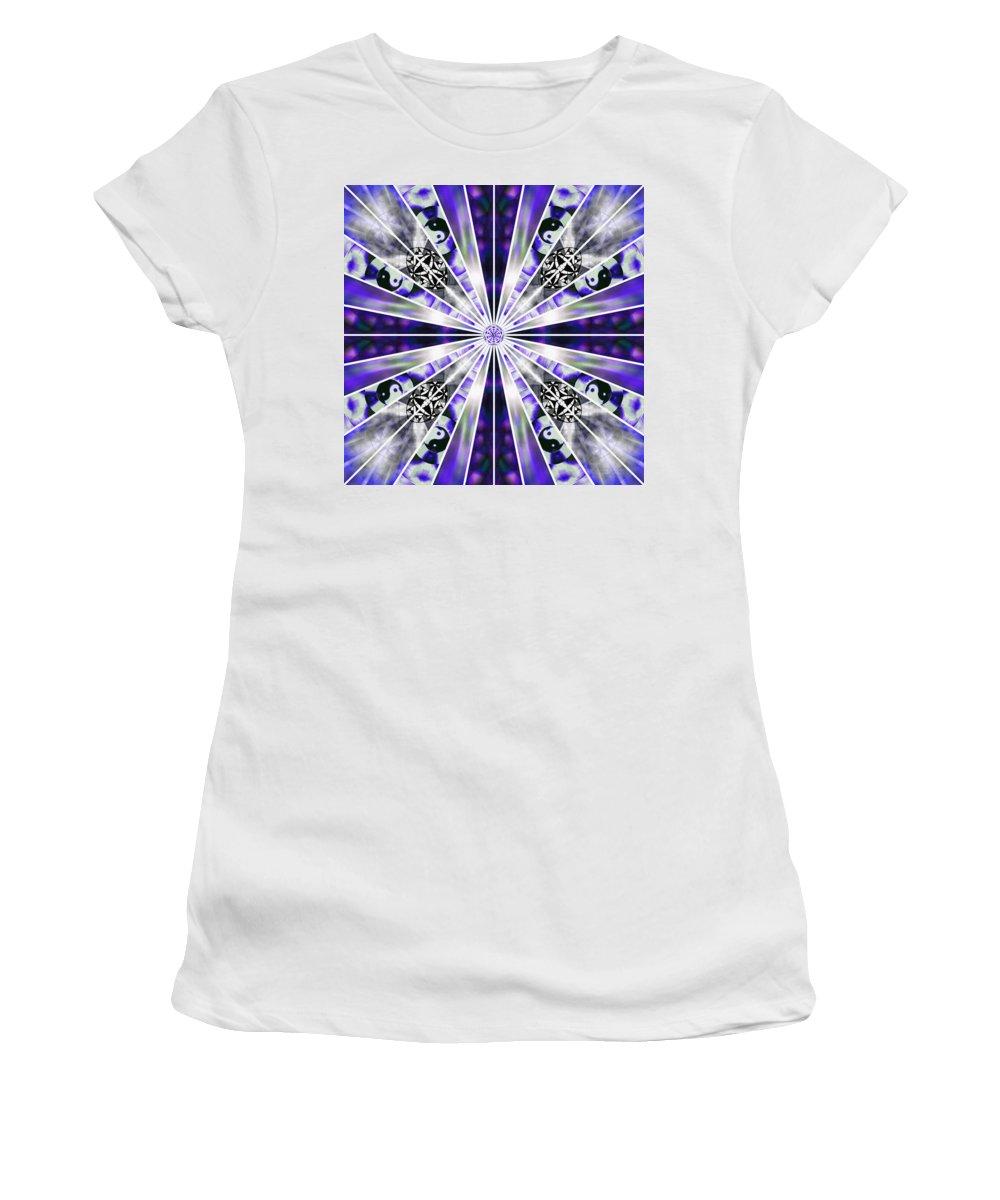 Sacredlife Mandalas Women's T-Shirt featuring the drawing Alchemical Flowers by Derek Gedney