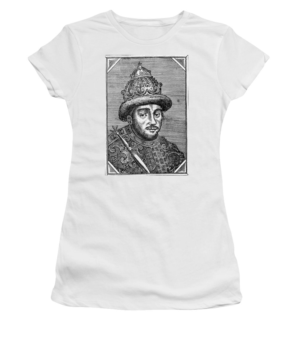 1664 Women's T-Shirt (Athletic Fit) featuring the painting Alexei Mikhailovich (1629-1676) by Granger