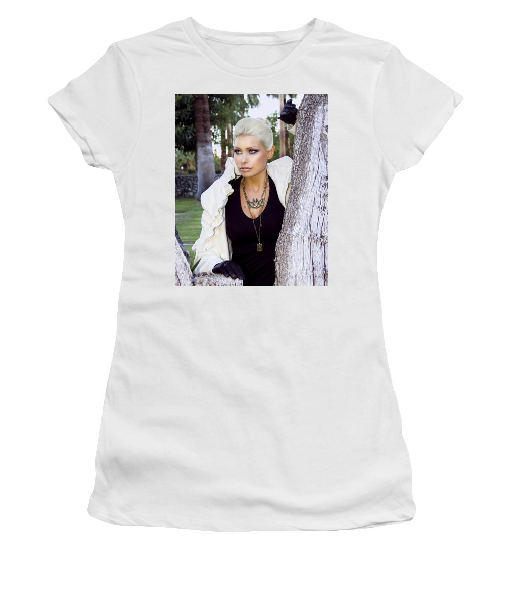Female Women's T-Shirt featuring the photograph Allure Palm Springs by William Dey