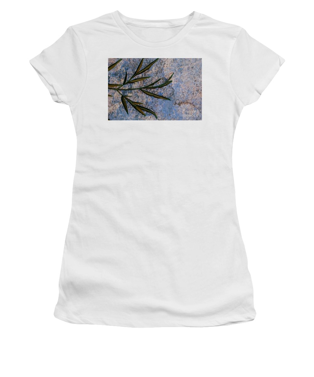 Leaf Women's T-Shirt (Athletic Fit) featuring the photograph Altered State by Judy Wolinsky