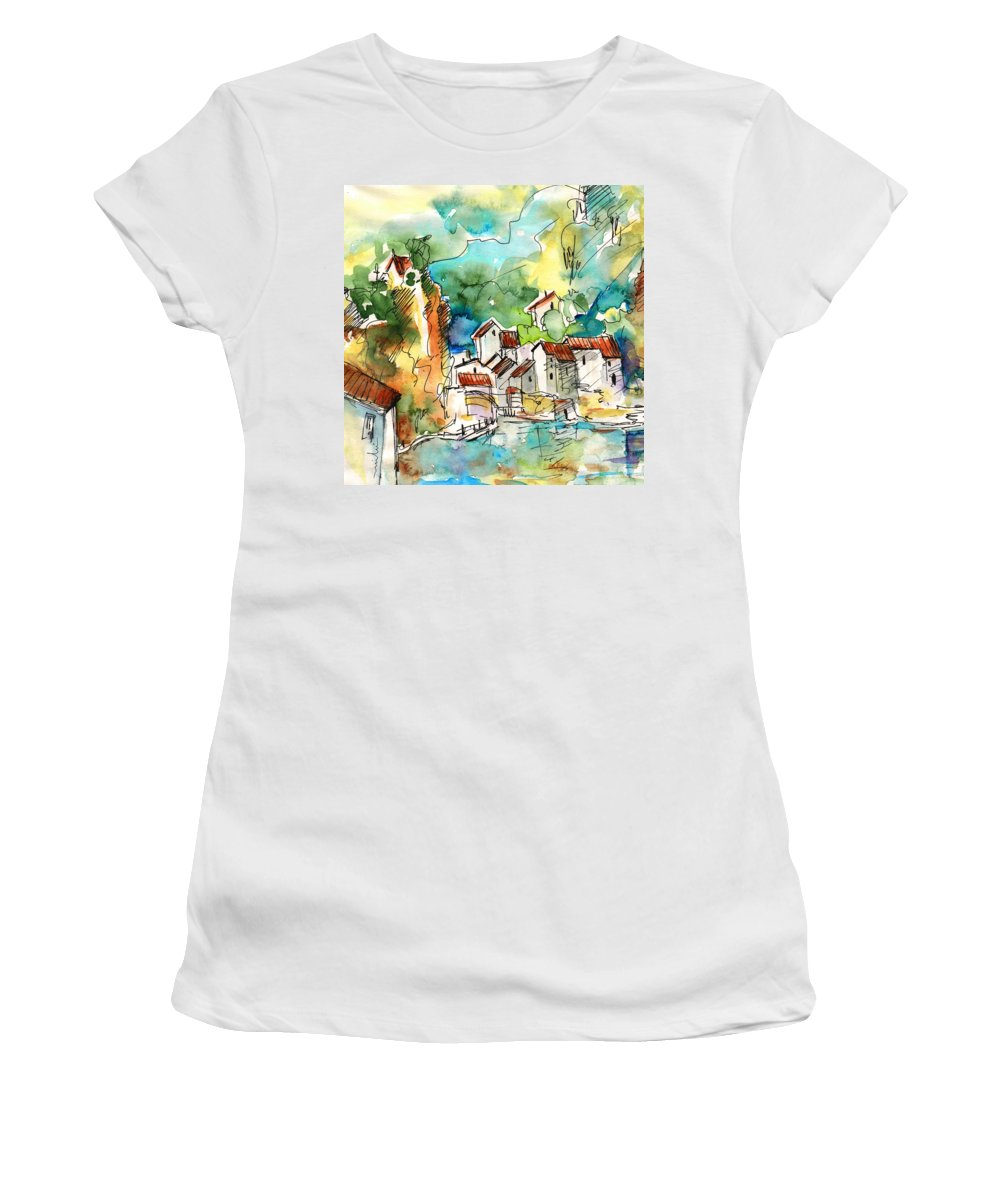 Travel Women's T-Shirt featuring the painting Ambialet 02 by Miki De Goodaboom