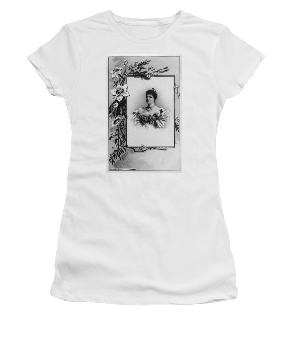 1890 Women's T-Shirt (Athletic Fit) featuring the photograph Amelie Of Portugal (1865-1951) by Granger