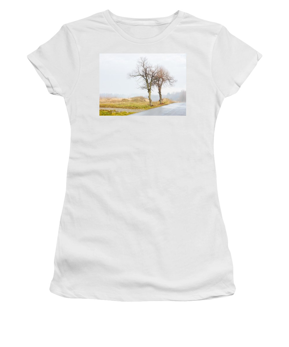 Solitude Women's T-Shirt featuring the photograph An Empty Path by Pati Photography