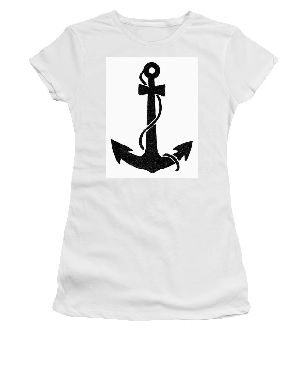Anchor Women's T-Shirt (Athletic Fit) featuring the painting Anchor by Granger