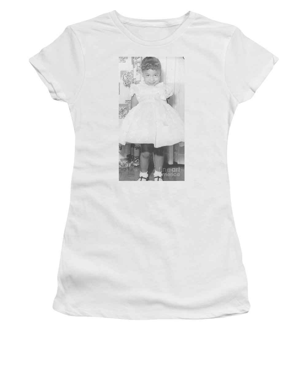 Little Girl Women's T-Shirt featuring the photograph And Mommie Made Me Smile by Angela L Walker