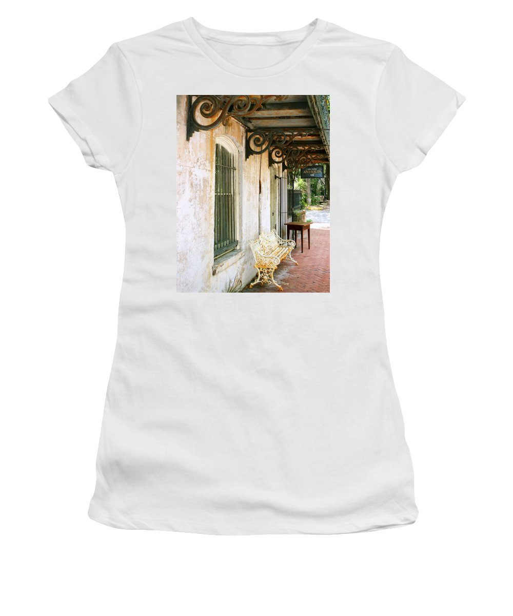 Savannah Women's T-Shirt (Athletic Fit) featuring the photograph Antique Savannah by William Dey