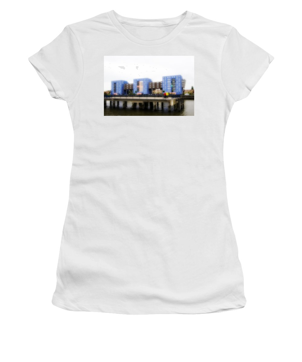 Rotterdam Women's T-Shirt featuring the photograph Apartments Rotterdam by Hugh Smith