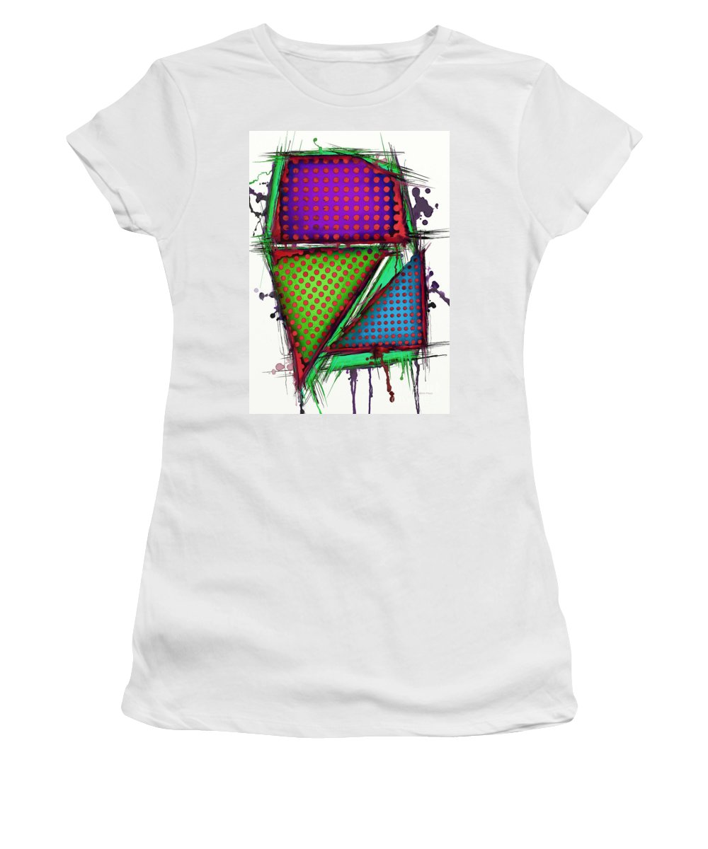 Armour Women's T-Shirt featuring the digital art Armour 2 by Keith Mills