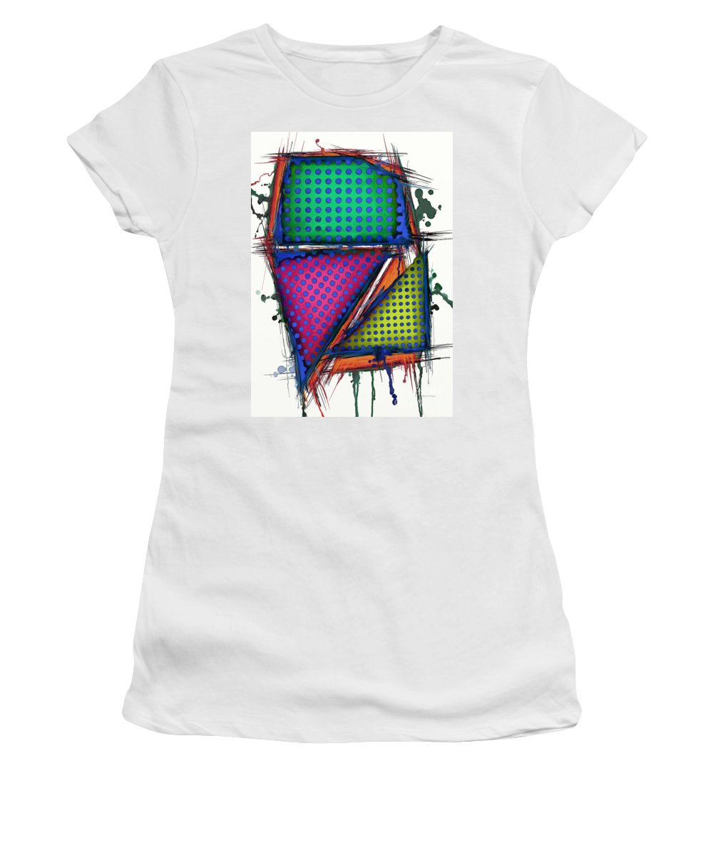 Armour Women's T-Shirt featuring the digital art Armour by Keith Mills
