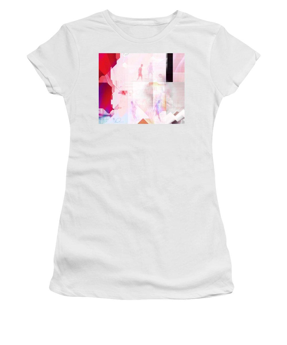 Beach Women's T-Shirt (Athletic Fit) featuring the digital art At The Beach by David Derr