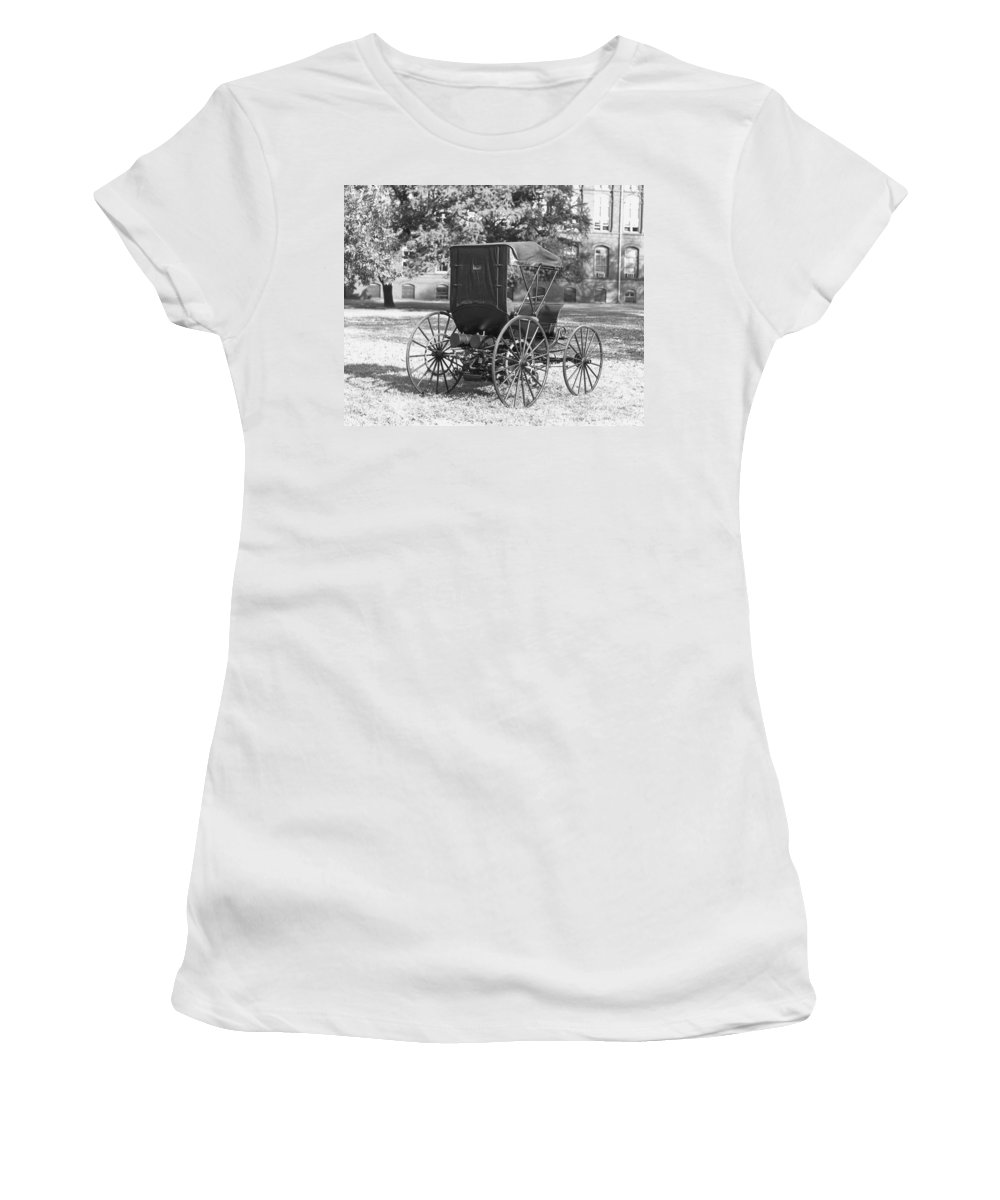 1893 Women's T-Shirt (Athletic Fit) featuring the photograph Automobile Duryea, 1893-94 by Granger