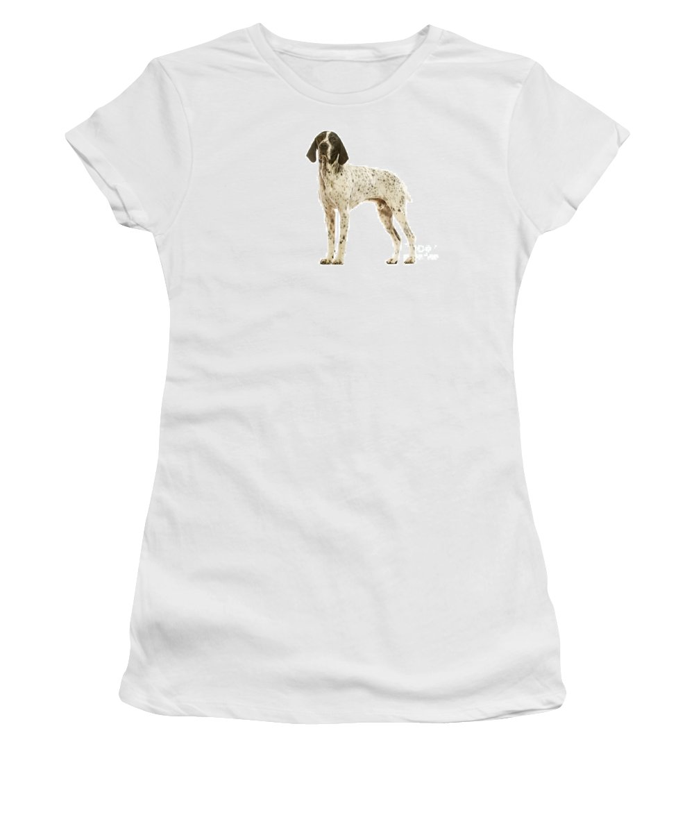 Auvergne Pointer Women's T-Shirt (Athletic Fit) featuring the photograph Auvergne Pointer by Jean-Michel Labat
