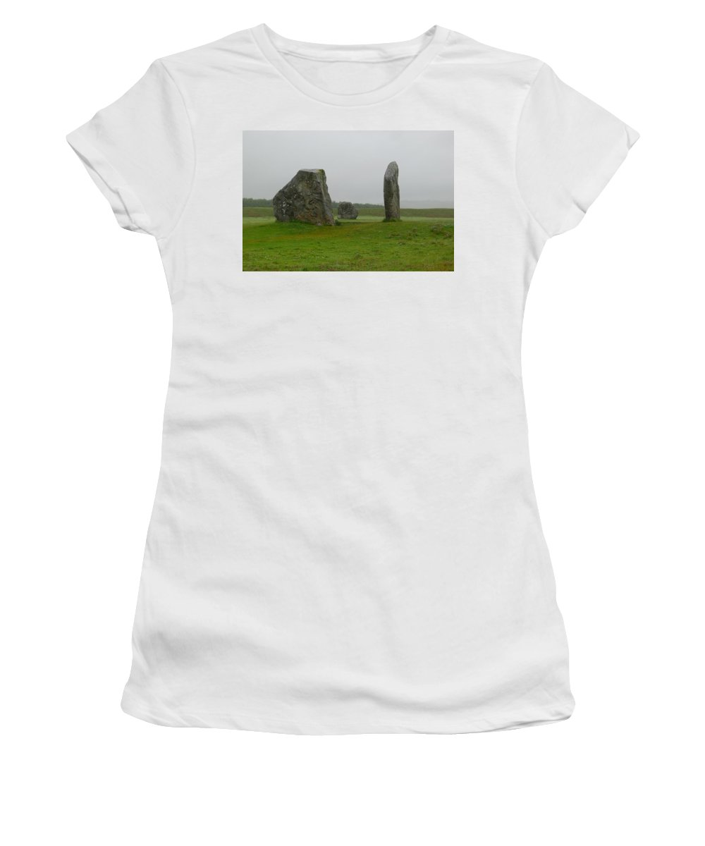 Avebury Women's T-Shirt featuring the photograph Avebury's Cove Stones by Denise Mazzocco