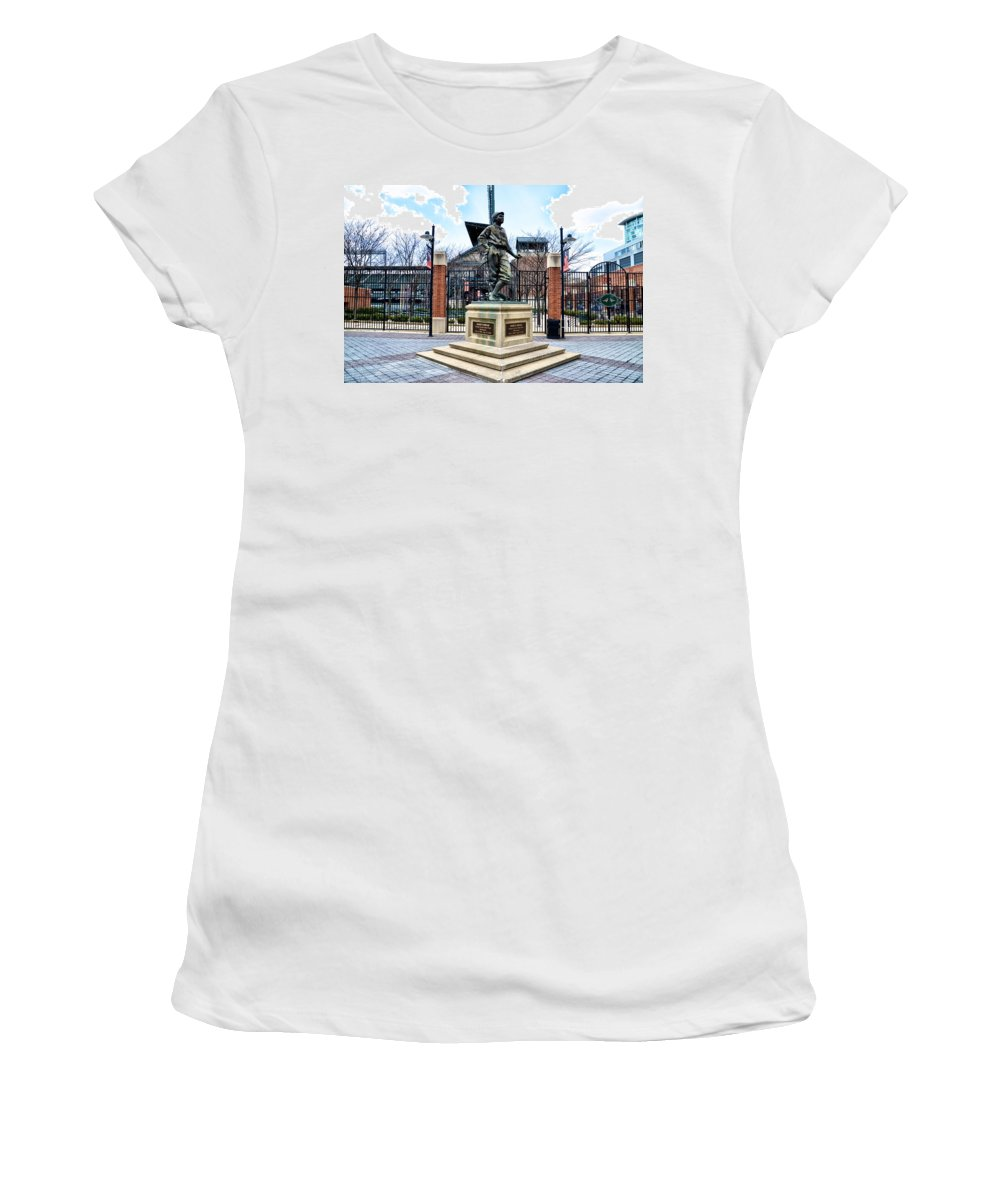 Babes Women's T-Shirt (Athletic Fit) featuring the photograph Babes Dream - Camden Yards by Bill Cannon