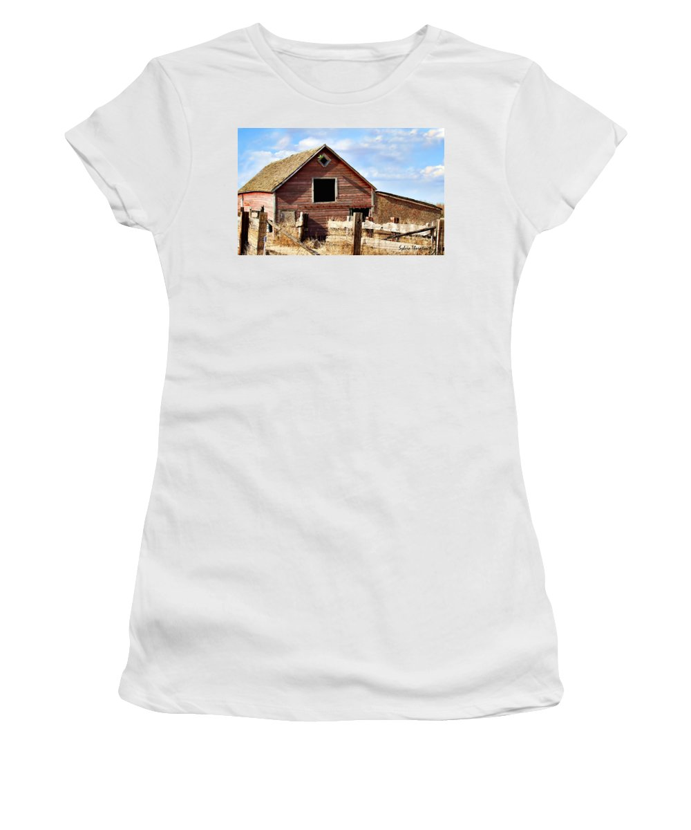 Old Barn Women's T-Shirt (Athletic Fit) featuring the photograph Baby Barn by Sylvia Thornton