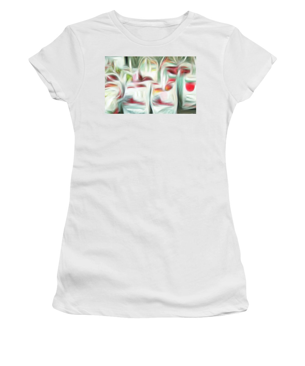 Apples Women's T-Shirt featuring the digital art Bags Of Apples by Bob Pardue