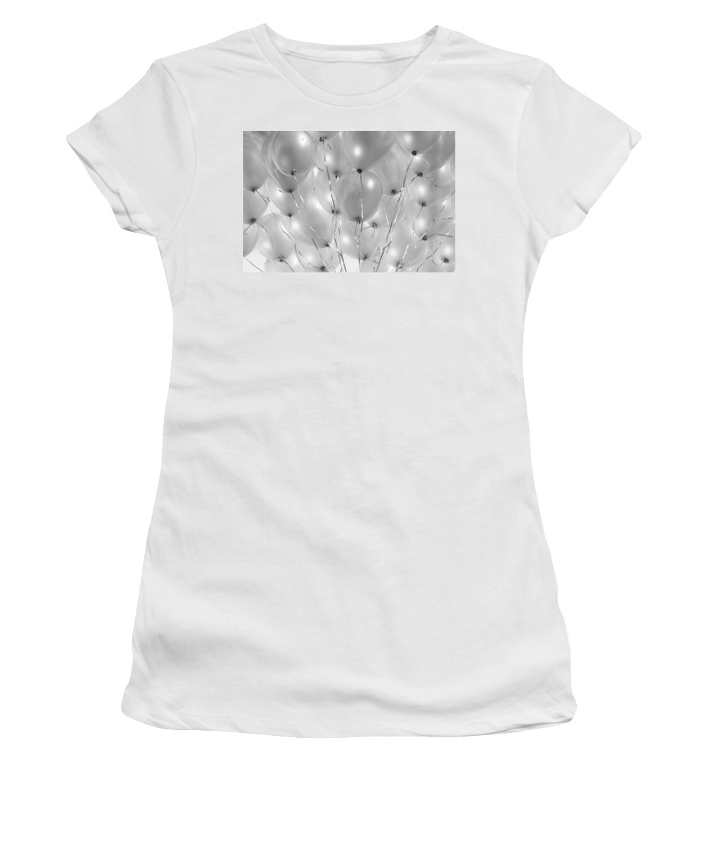 Balloons Women's T-Shirt (Athletic Fit) featuring the photograph Balloons by Olivier De Rycke