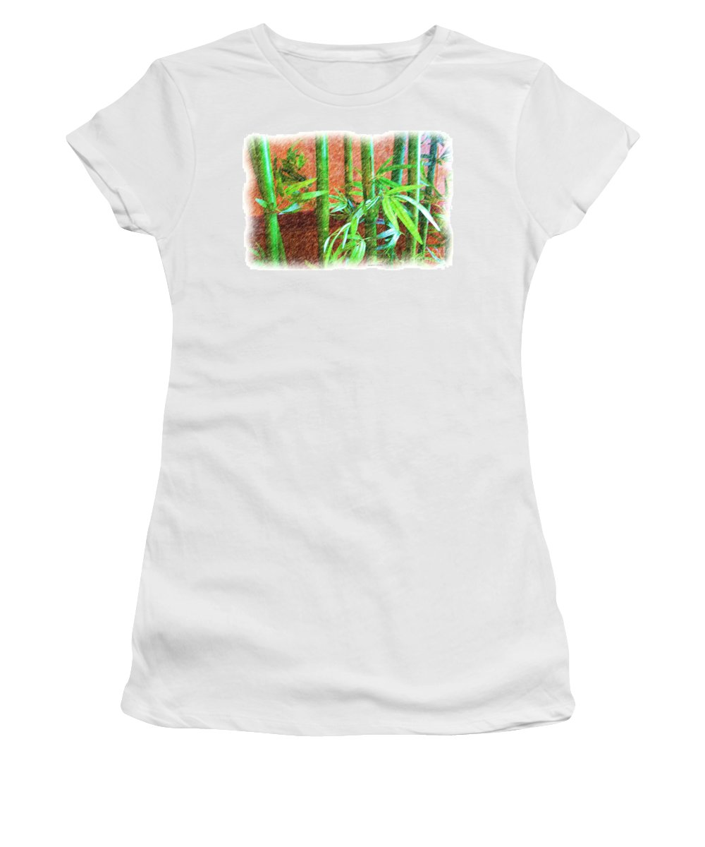 Quincy Illinois Women's T-Shirt featuring the photograph Bamboo #1 by Luther Fine Art
