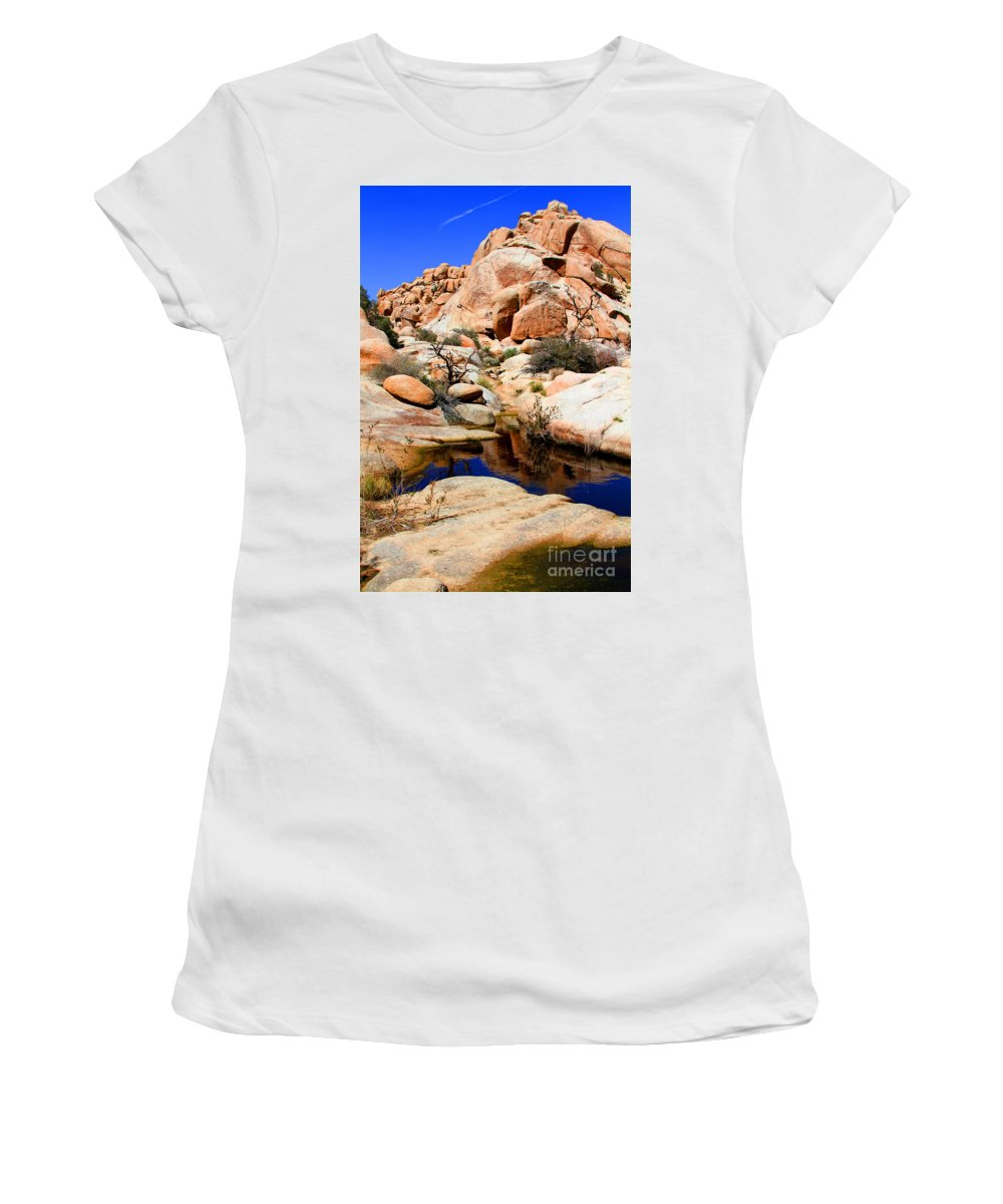 Barker Dam Women's T-Shirt (Athletic Fit) featuring the photograph Barker Dam Big Horn Dam By Diana Sainz by Diana Raquel Sainz
