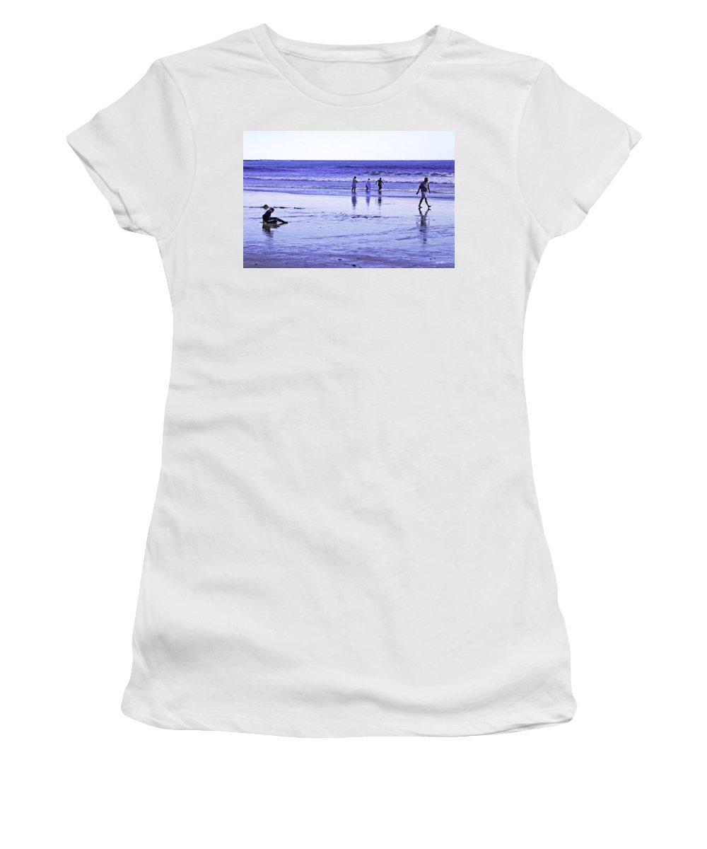 Beach Women's T-Shirt featuring the photograph Beach Day Afternoon by Madeline Ellis