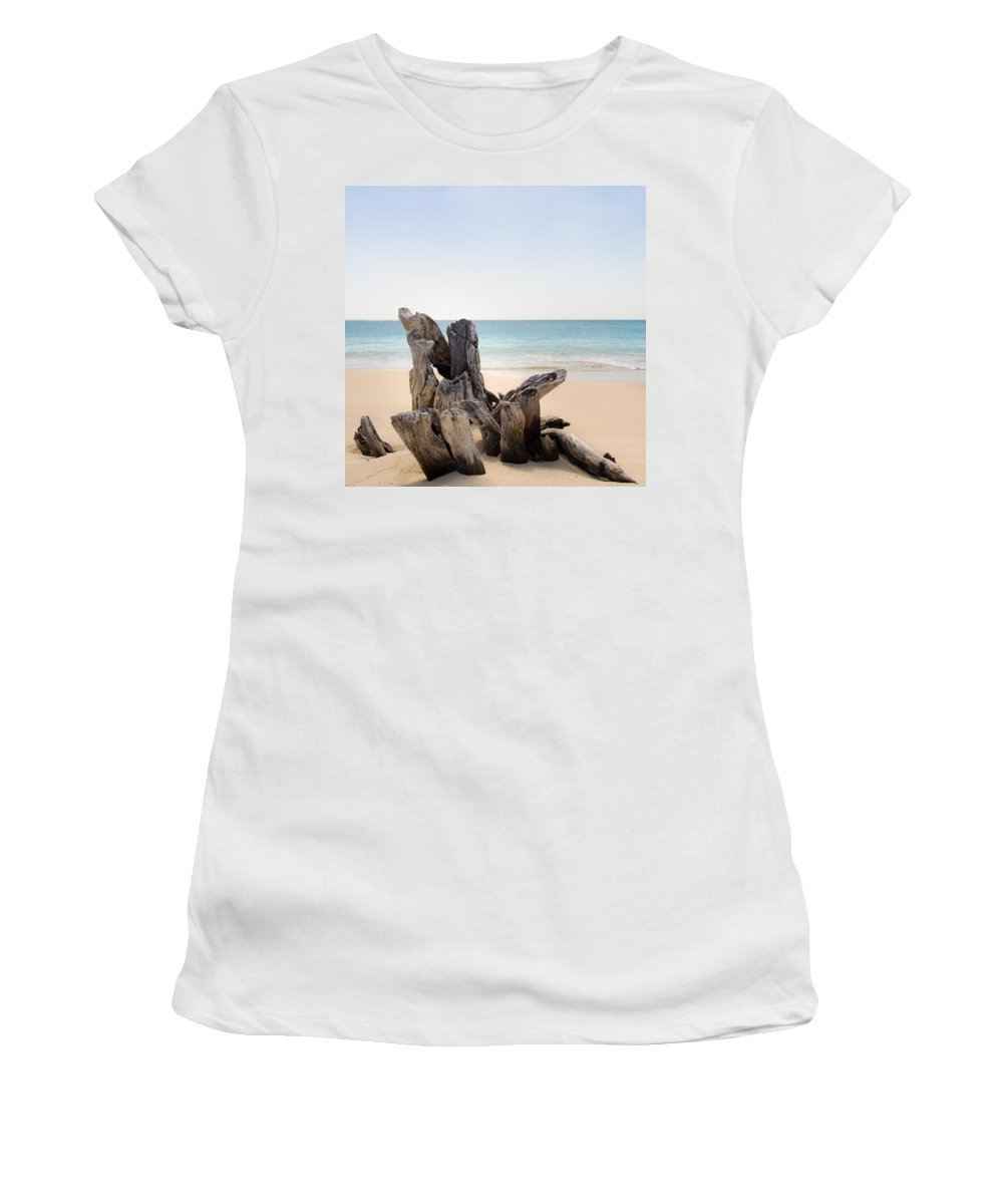Antigua And Barbuda Women's T-Shirt featuring the photograph Beach Trunk by Ferry Zievinger
