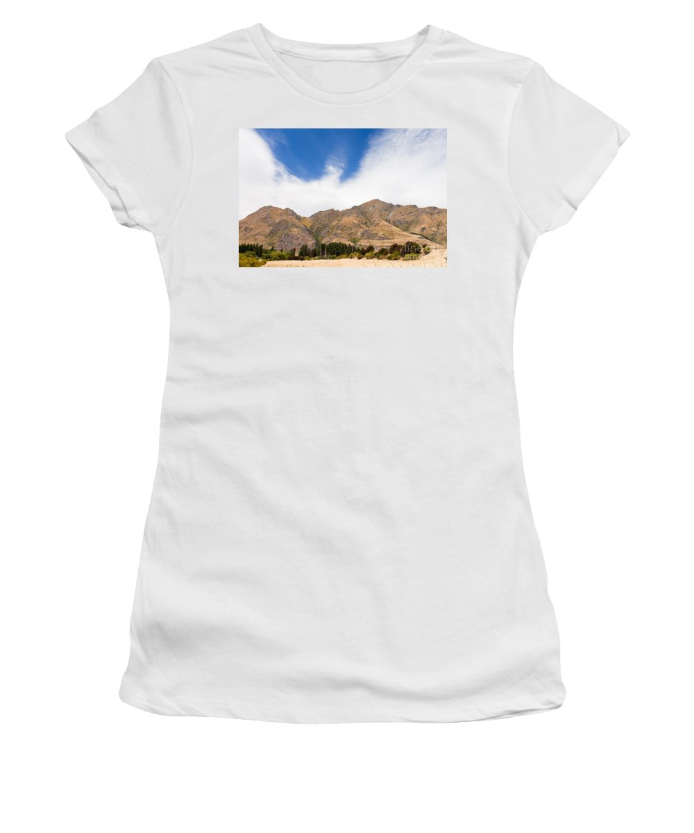 South Island Women's T-Shirt (Athletic Fit) featuring the photograph Beautiful Roys Peak Near Wanaka In Southern Alps Of New Zealand by Stephan Pietzko