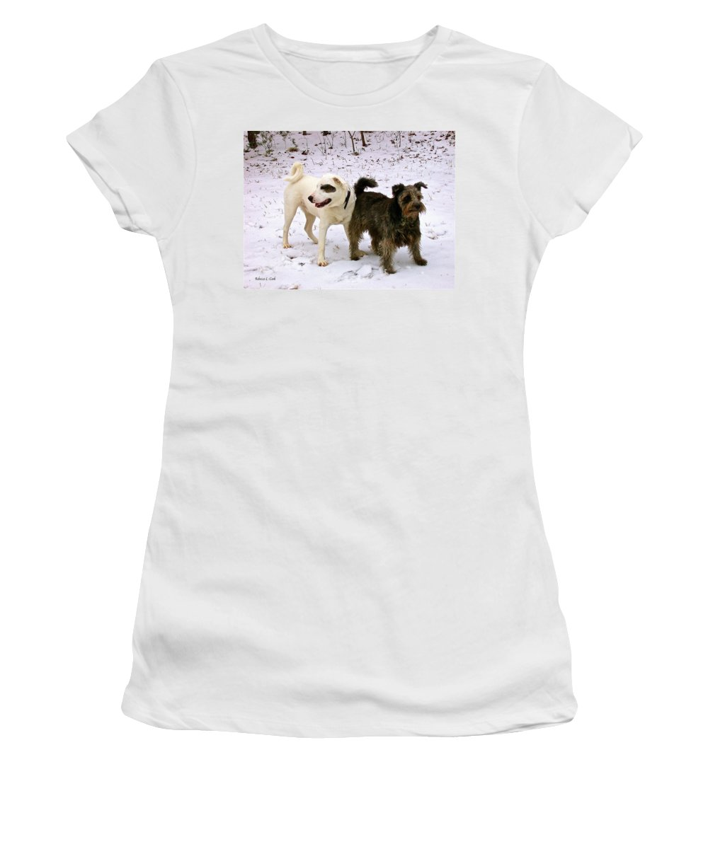Best Buddies Women's T-Shirt (Athletic Fit) featuring the photograph Best Buddies by Bellesouth Studio