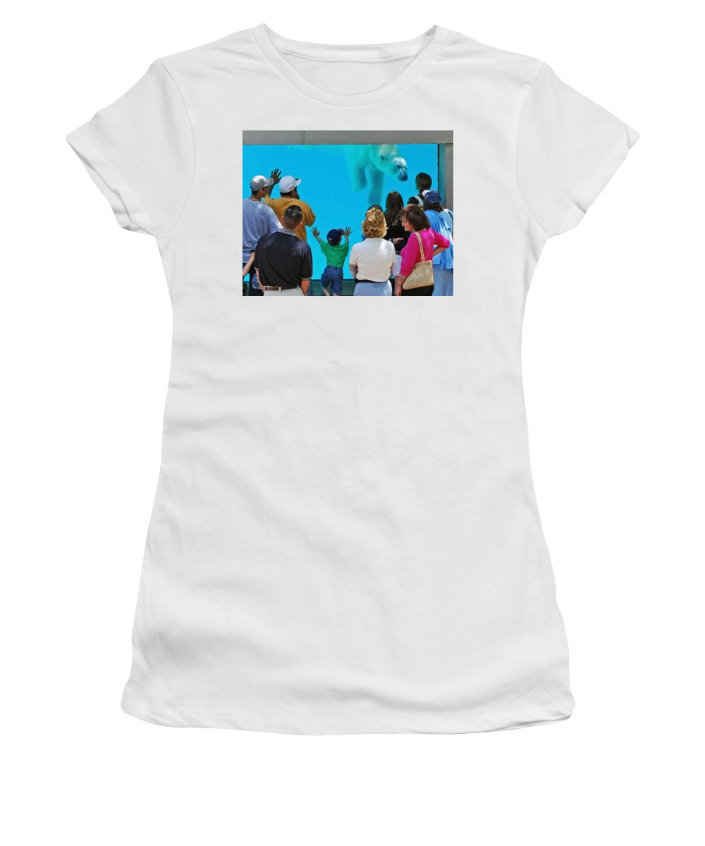 Polar Bear Women's T-Shirt (Athletic Fit) featuring the photograph Big Bear by Rick Selin