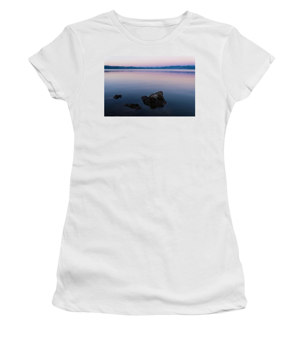 Yellowstone Women's T-Shirt featuring the photograph Big Lake by Kristopher Schoenleber