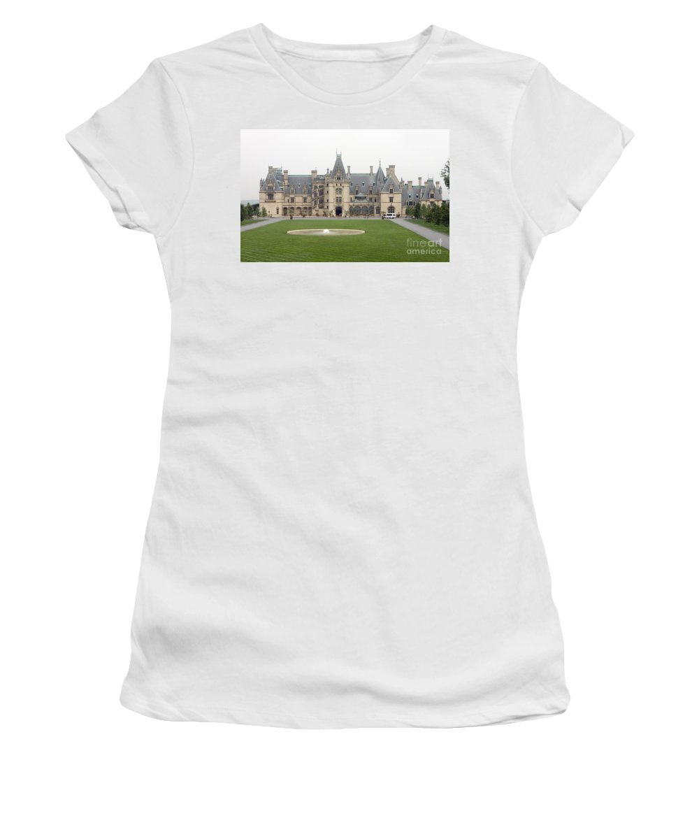 Biltmore Estate Women's T-Shirt (Athletic Fit) featuring the photograph Biltmore Estate Asheville by Jason O Watson