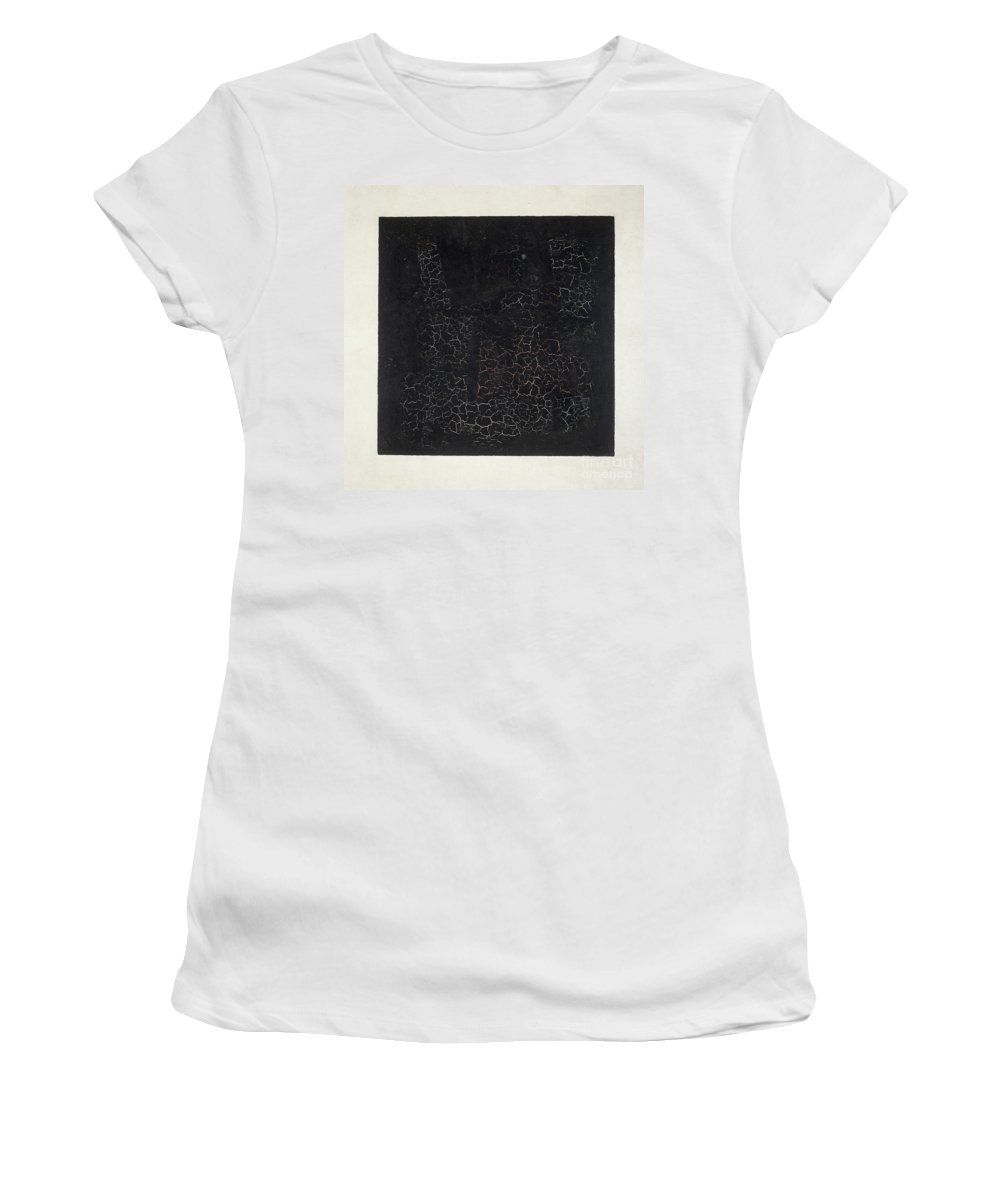 Suprematist; Shape; Abstract; Geometric; Minimalist; Suprematism; Minimalism; Abstract Women's T-Shirt featuring the painting Black Square by Kazimir Malevich