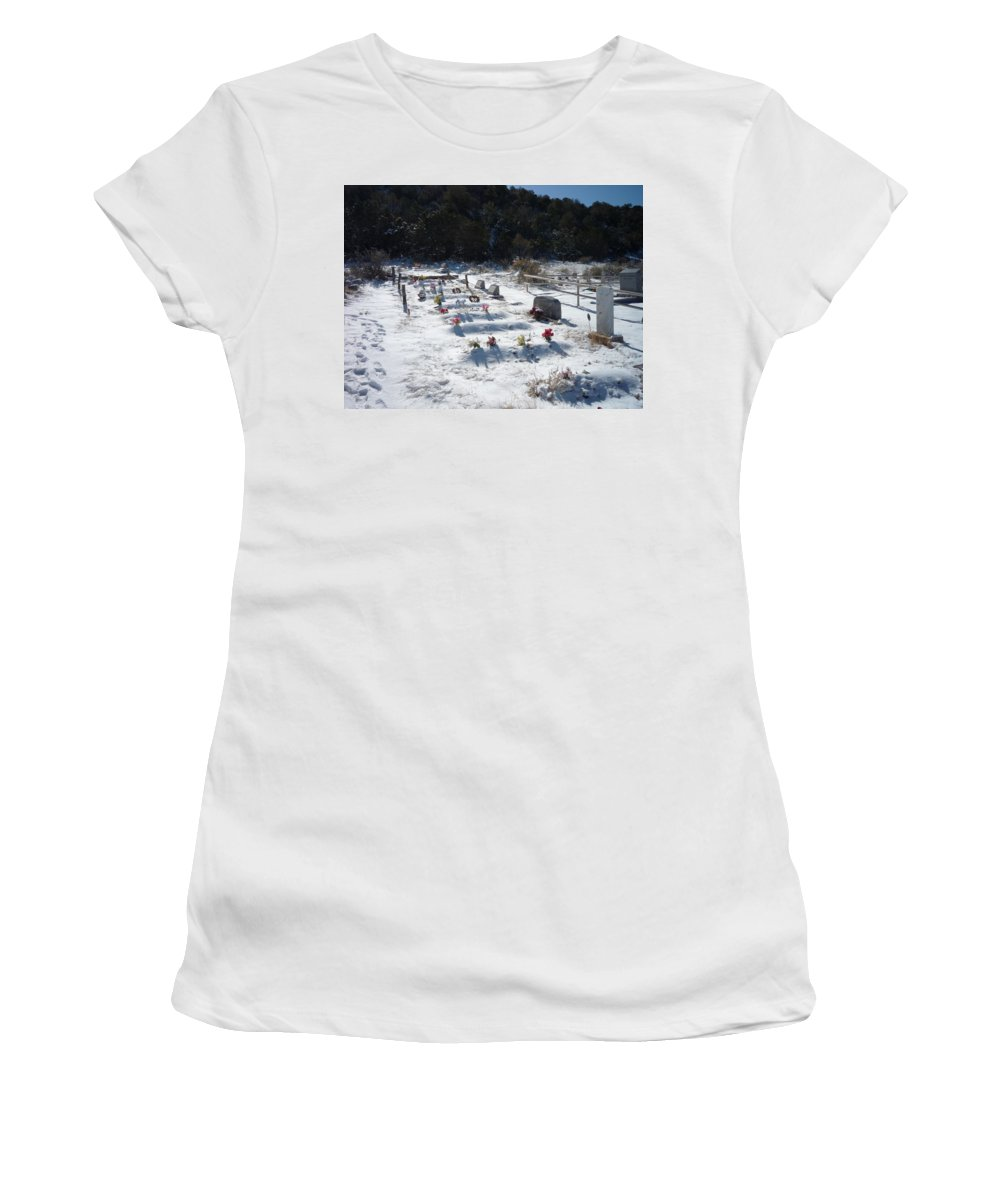 Cemetary Women's T-Shirt (Athletic Fit) featuring the photograph Blanket by Jennifer Lavigne