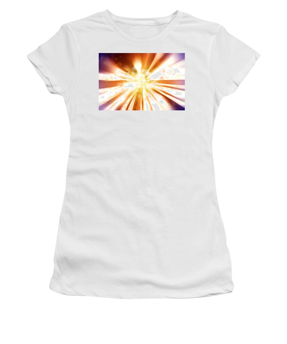 Streak Women's T-Shirt (Athletic Fit) featuring the photograph Blast Background by Les Cunliffe