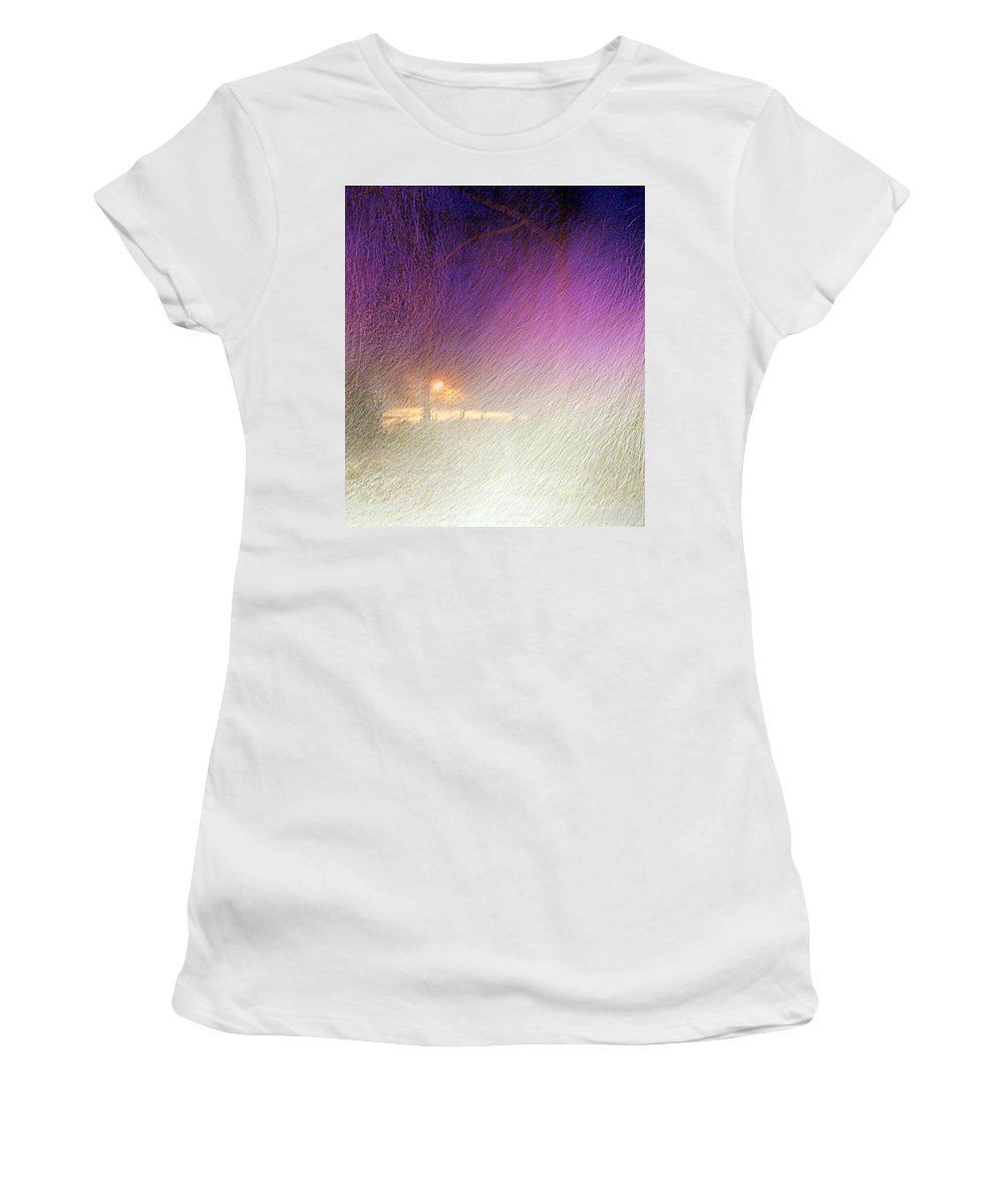 Blizzard Women's T-Shirt (Athletic Fit) featuring the photograph Blizzard by Pamela Hyde Wilson