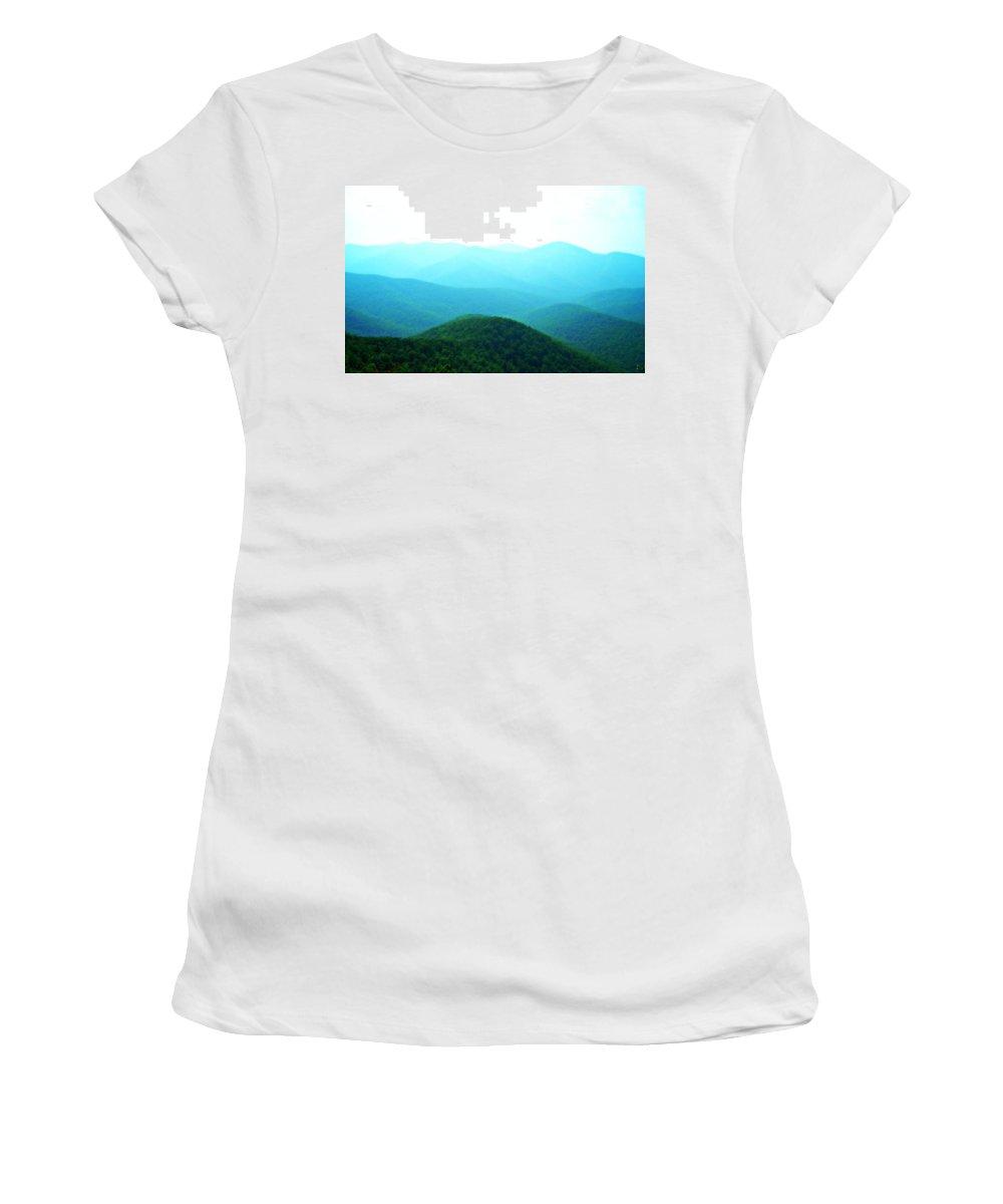 Mountains Women's T-Shirt featuring the photograph Blue Ridge Scene by Vicki Dreher